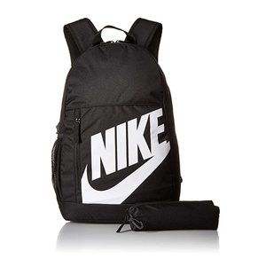 Nike Youth Elemental Backpack Black/White w/ Case